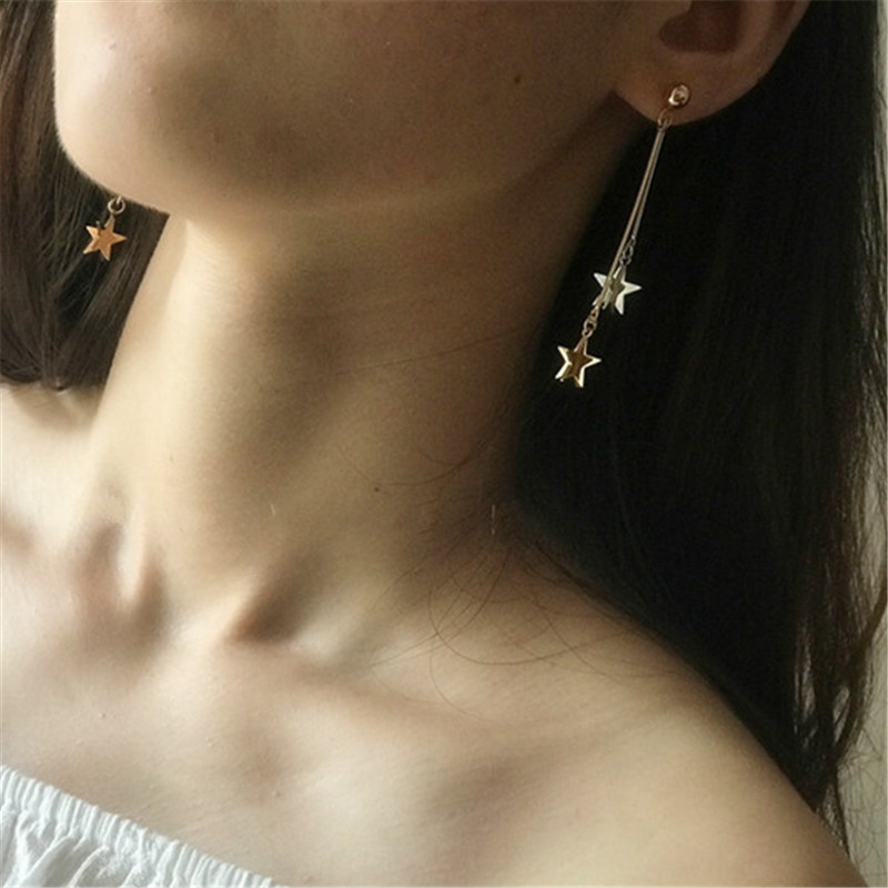 The geometry of individual character vogue earrings contracted design style texture Earrings delicate girl earrings jewelry in Stud Earrings from Jewelry Accessories