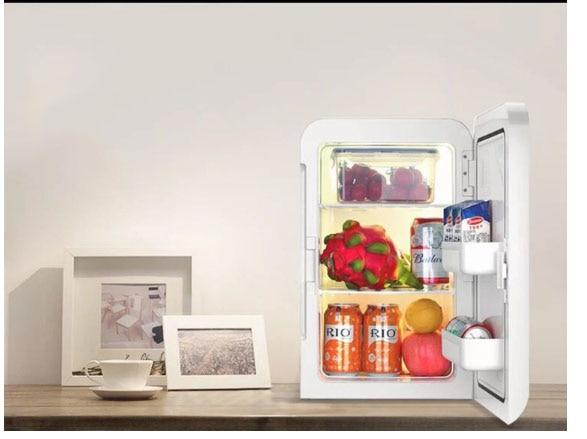 20L Dual Refrigeration Car Mini Small Refrigerator Household Mini-dorm Home Dual-use Single-door Hot/cold 2 Kinds Power Supply