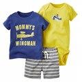 Летом стиль тренировочный костюм baby boy одежда, спортивный костюм ребенок мальчик трико + шорты рукавом детские наборы 3 шт. roupas infantis menino