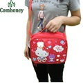 Child Hello Kitty Picnic Lunch Bag Cartoon Neoprene Thermal and Cooler Bag Food Storage Insulated Lunchbox Women Crossbody Bag