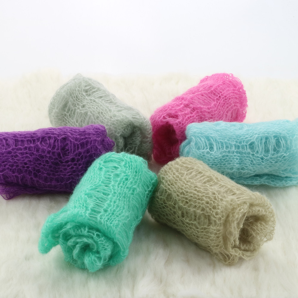 Wool mohair 60x30cm Newborn baby Wraps mohair wraps Newborn photography props soft and comfortable