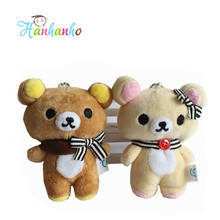 10cm Cute Rilakkuma Bear Stuffed Animal Doll Small Pendant Figure Doll  Bag Pendant Charm TOY
