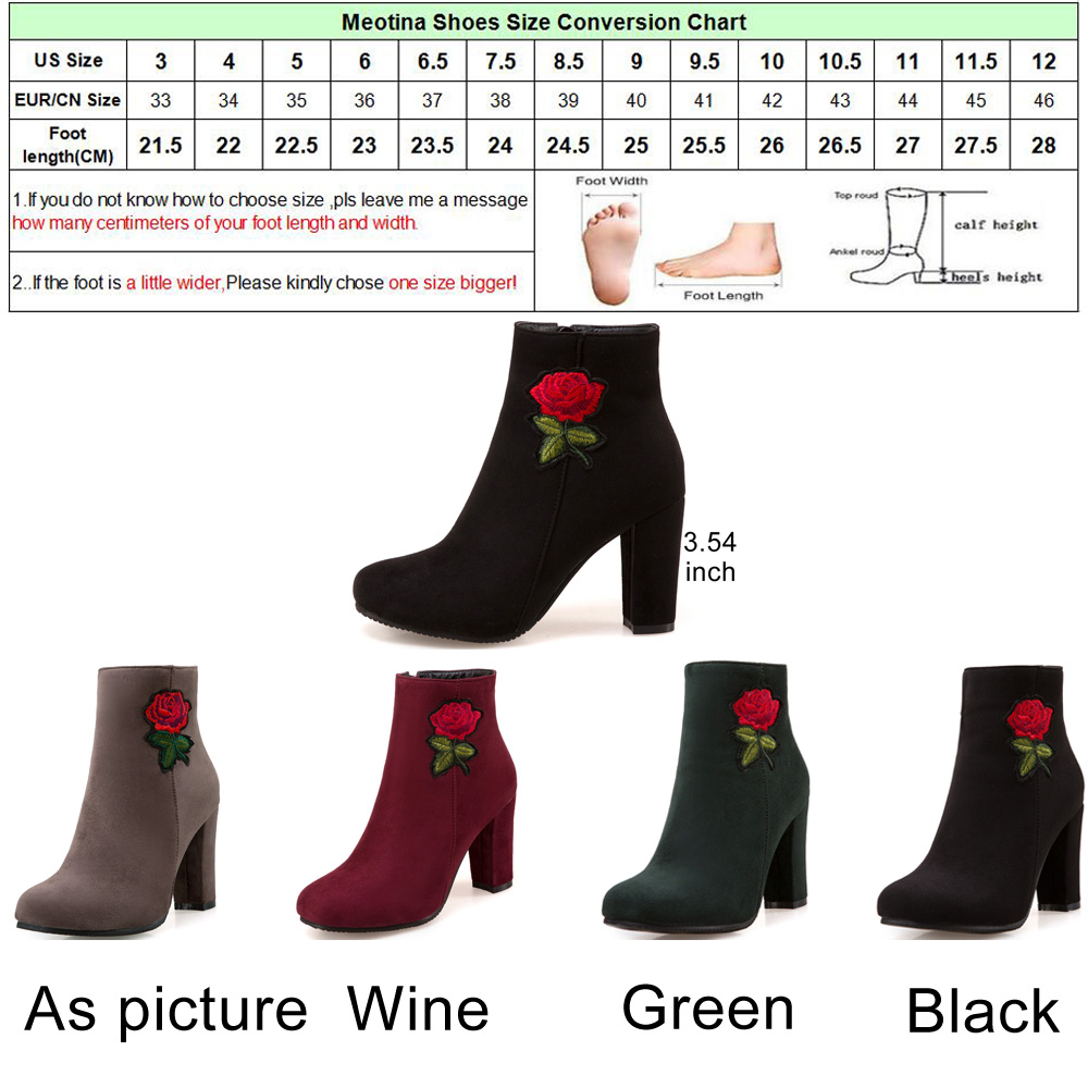 Meotina winter women boots embroidery high heels boots thick heels meotina winter women boots embroidery high heels boots thick heels chinese boots zip 2018 autumn shoes plus size 33 46 black red in ankle boots from shoes nvjuhfo Image collections