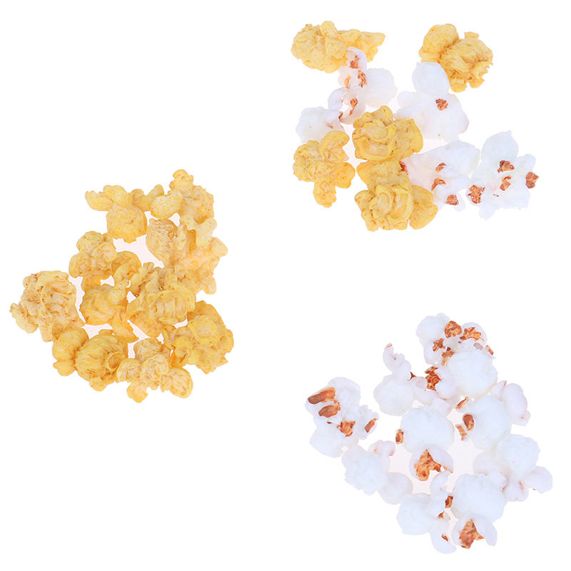 10Pcs Miniature Resin Popcorn DIY Slime Charms Supplies Accessories For Slime Filler Kids Polymer Plasticine Gift