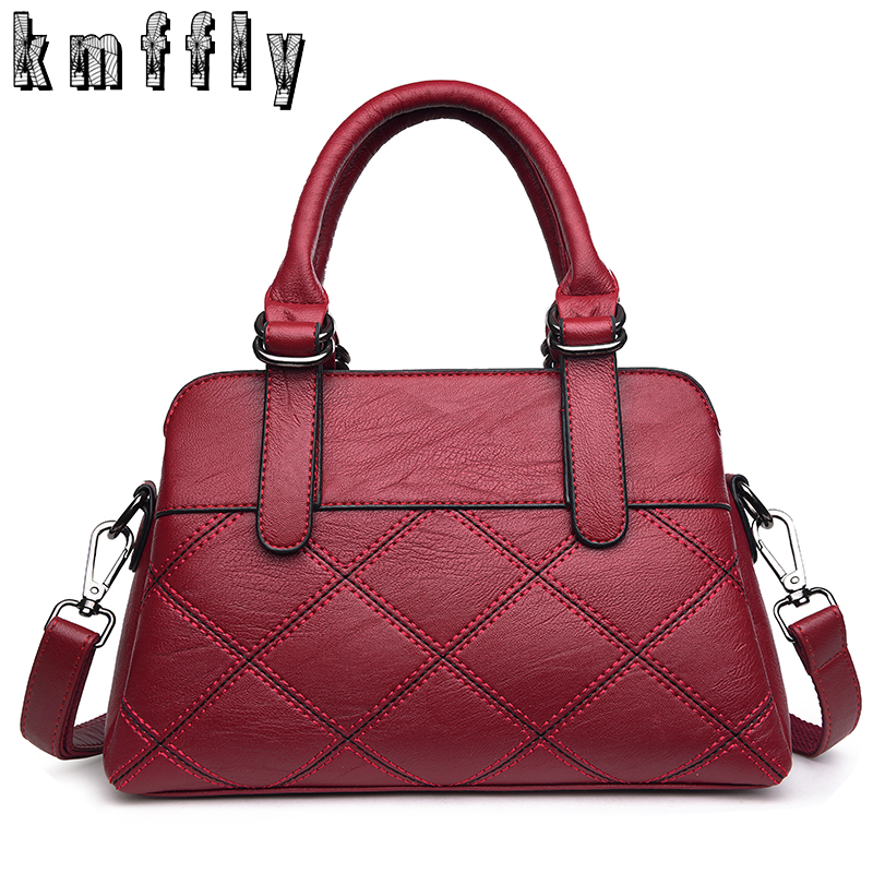 Women Bag Fashion Plaid Luxury Handbags Women PU Leather Bag Designer Shoulder Bags Famous Brand Leisure Top-handle Bags Sac open shoulder plaid top