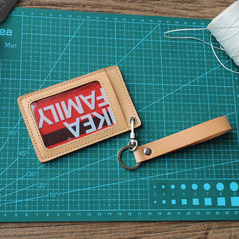 Alisara ID posiadacze prawdziwej skóry pionowe biznes odznaka brelok nazwa data data powrotu (zestaw kart Student etui na karty Tag posiadacze uchwyt na klucze