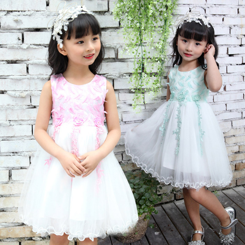Girls Lace Dress Princess toddler Clothes Baby Girl new Year costume sweet Summer 2017 Kids flower Children Clothing 3 4 6 8 11Y flower baby girls princess dress girl dresses summer children clothing casual school toddler kids girl dress for girls clothes page 5