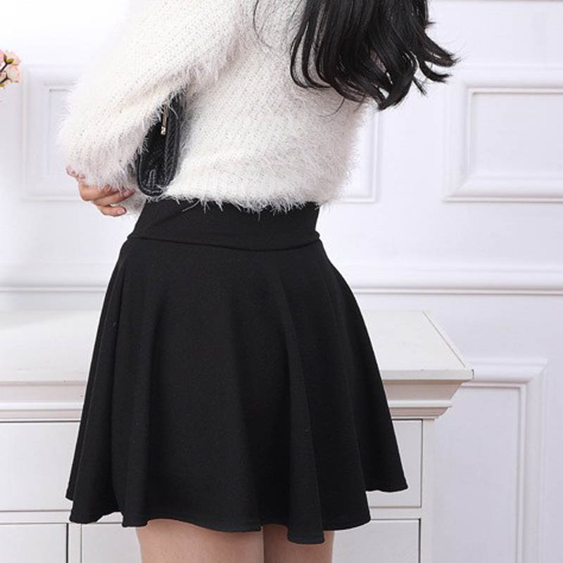 2015 Hot Women Bust Shorts Skirt Pants Pleated Plus Size Fashion Candy Color Skirts 9 Colors C718 4