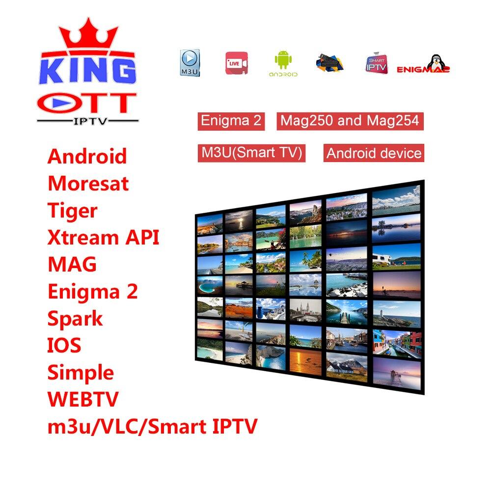 KÖNIG IPTV 1 jahr abonnement iptv m3u Italia Französisch Spanien Kanada USA Türkischen Indien Portugal Beste HD leadcool qhdtv iudtv subtv