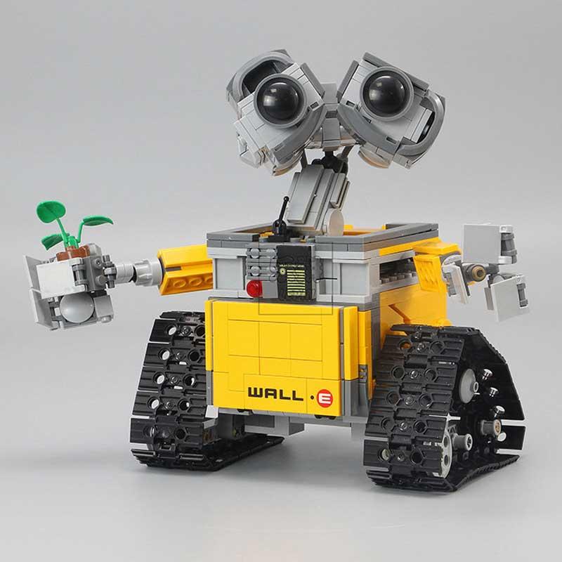 Mignon Robot blocs de construction 16003 série le mur E 687 pièces ensemble Kits modèles blocs de construction jouets pour enfants Compatible pour 21303