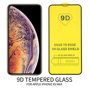 Image 2 - 25 PCS 9D Full Glue Curved Tempered Glass For iPhone 11 Pro Full Screen Protector Glass For iPhone XS XR Protective Film