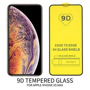 Image 2 - 25 PCS 9D מלא דבק מעוקל מזג זכוכית עבור iPhone 11 פרו מלא מסך מגן זכוכית עבור iPhone XS XR מגן סרט