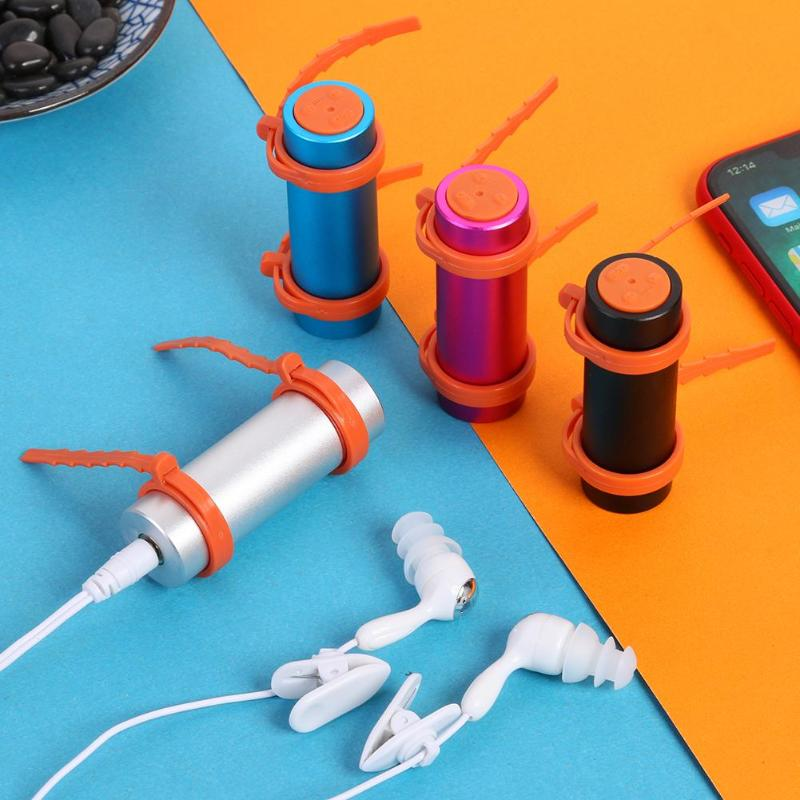 IPX8 Waterproof MP3 Player 4GB/8GB Swimming Underwater Sport Music Players With Waterproof Headset FM Radio Audio Player