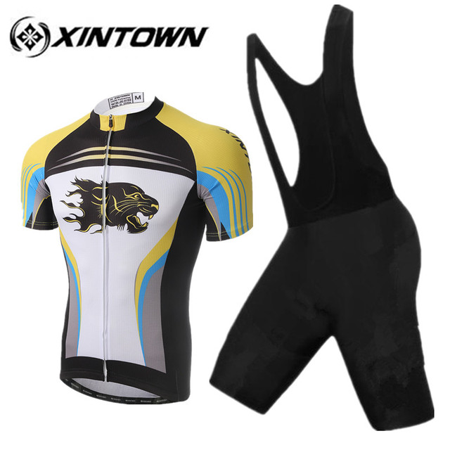 f094ef013 XINTOWN MEN Cycling jersey Cheetah 2018 Pro Team Ropa Ciclismo Hombre Short  Bike mtb Cycling Clothing Bicycle Maillot Ciclismo