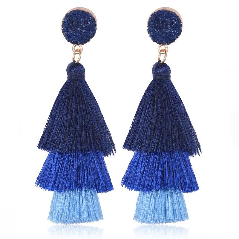 2019 vintage tassel earrings bohemian long drop earring. Black Bedroom Furniture Sets. Home Design Ideas