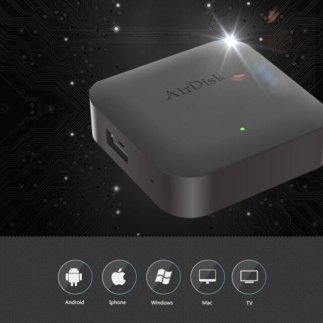 "Airdisk Q2 เครือข่ายโทรศัพท์มือถือ hard disk USB2.0 2.5 ""สมาร์ทเครือข่าย Cloud Storage Multi แชร์คนมือถือกล่อง"