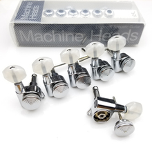 Chrome Guitar Locking Tuners Silver Electric Machine Heads JN-07SP Lock Tuning Pegs ( With packaging )