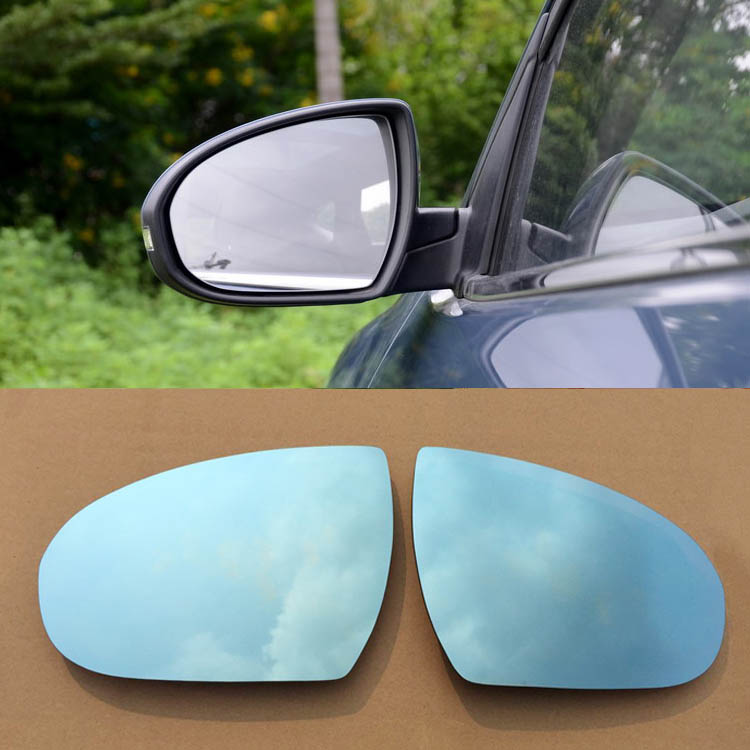 Ipoboo 2pcs New Power Heated w/Turn Signal Side View Mirror Blue Glasses For Hyundai Tucson