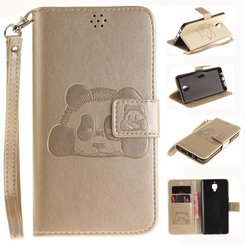 Откидная крышка для один плюс три oneplus3 1 + 3 Чехол Роскошный кошелек чехол для телефона кожаный чехол с рисунком панды стиль