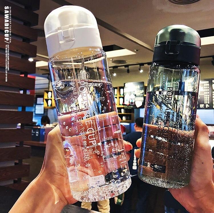 650ml Leak Proof Plastic Water Bottles Portable Outdoor Sports Water Bottle bpa free Drinking Drinkware Camping Space Bottles