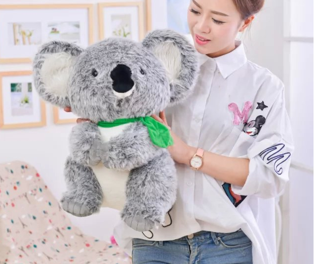 big plush koala toy high quality simulation koala doll gift doll about 45cm protective silicone keyboard cover for apple macbook pro air purple