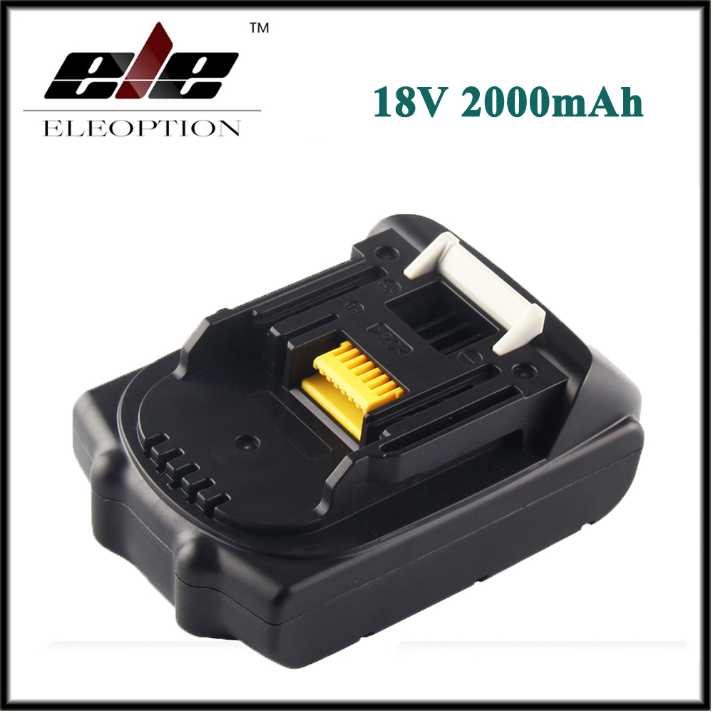 Eleoption 18V 2000mAh Li-ion Replacement Power Tool Battery For MAKITA 194205-3 194309-1 BL1815 9 6v 2000 mah li ion battery power tool dcb125 de9036 9 6v 2000 vhj97 cp0 06