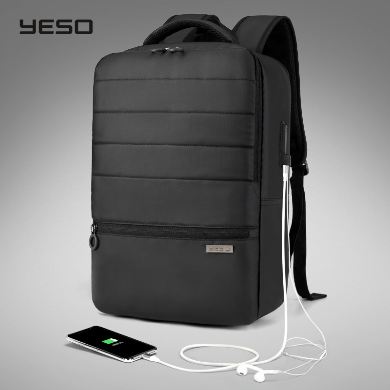 YESO Men s Laptop Backpack With USB Charging Waterproof Oxford Large Capacity Travel Bag Multifunction Women