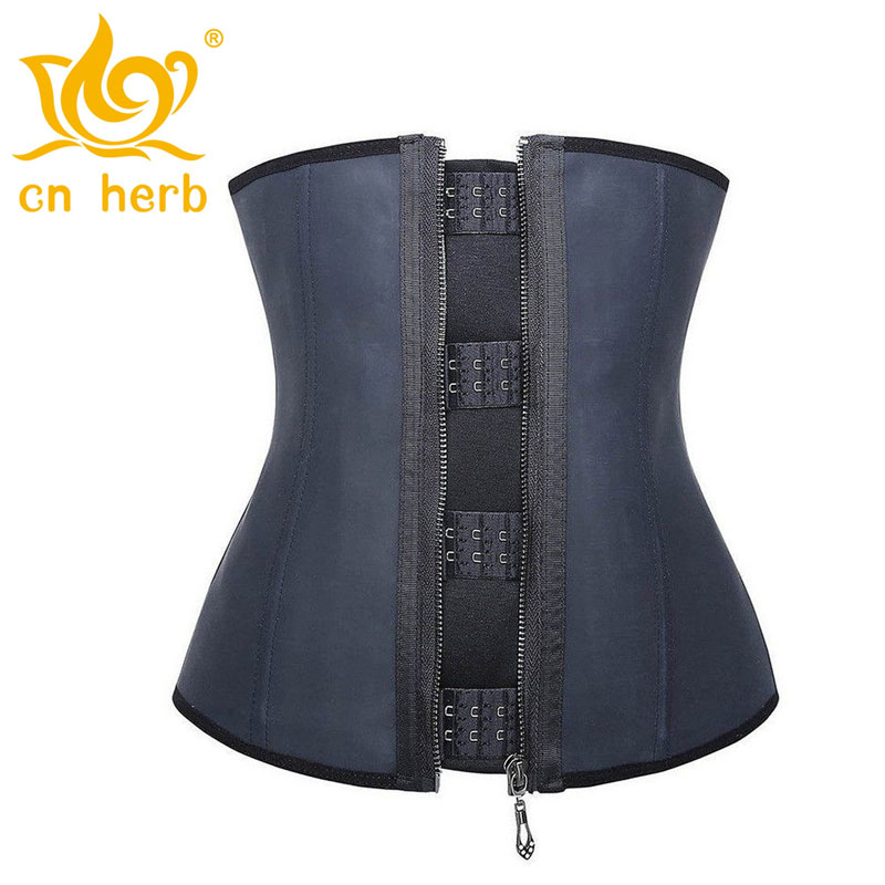 Cn Herb Latex Waist Trainer Body Shaper Women Hot Shapers Cincher Top Slimming Belt Black Free Shipping in Slimming Product from Beauty Health