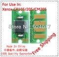 Para impressora Fuji Xerox Docuprint CP105b CP205w CM205b CP205fw CM205f CM205fw Toner chip, Para Xerox CP105 CP205 CM205 Chip de Toner