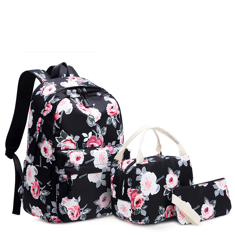 Fashion Rose Printing Women Backpack Flower Female Laptop backpacks College School Bags for Teenager Girls Bookbag mochilaFashion Rose Printing Women Backpack Flower Female Laptop backpacks College School Bags for Teenager Girls Bookbag mochila