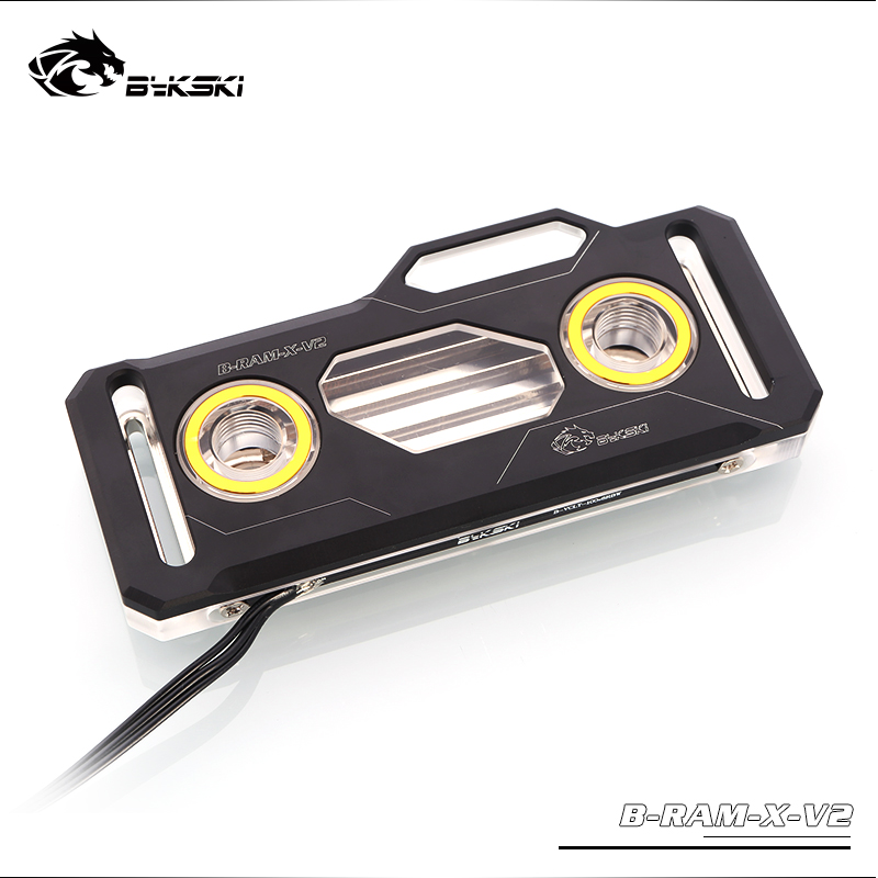 Bykski RAM Water Cooling Block use for Dual Channel 2pcs RAM or 4 Channel 4pcs RAM