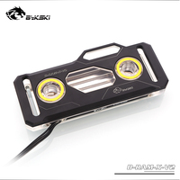 Bykski RAM Water Cooling Block use for Dual Channel 2pcs RAM or 4 Channel 4pcs RAM Cooled Transparent Radiator with 5V 3PIN RGB