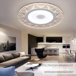 Nowy styl! Ultracienkie akrylowe nowoczesne lampy sufitowe led 220V 110V Led lampa Led zamontowane światła nowoczesne oświetlenie