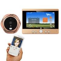 1 Set 720P WiFi Wireless Digital Peephole Door Viewer 5 Front Door Peephole Camera Wifi Doorbell with Intercom or take picture