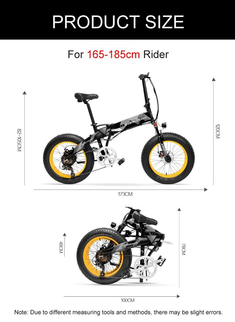 HTB1FaZdaoLrK1Rjy1zbq6AenFXaT 20 Inch Folding Mountain Bike 500W 48V 14.5Ah Lithium Battery Fat Bike Electric Bike 5 Level Pedal Assist Suspension Fork