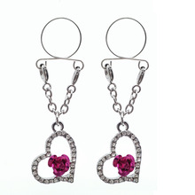 2pcs Sexy Non pierced Clip On Nipple Ring Jewelry F