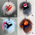 Freeshipping Exquisite fashion grimace cute Plush toy Funny Eyes Little Monster fox fur mink fur bag accessories pendant Karlito