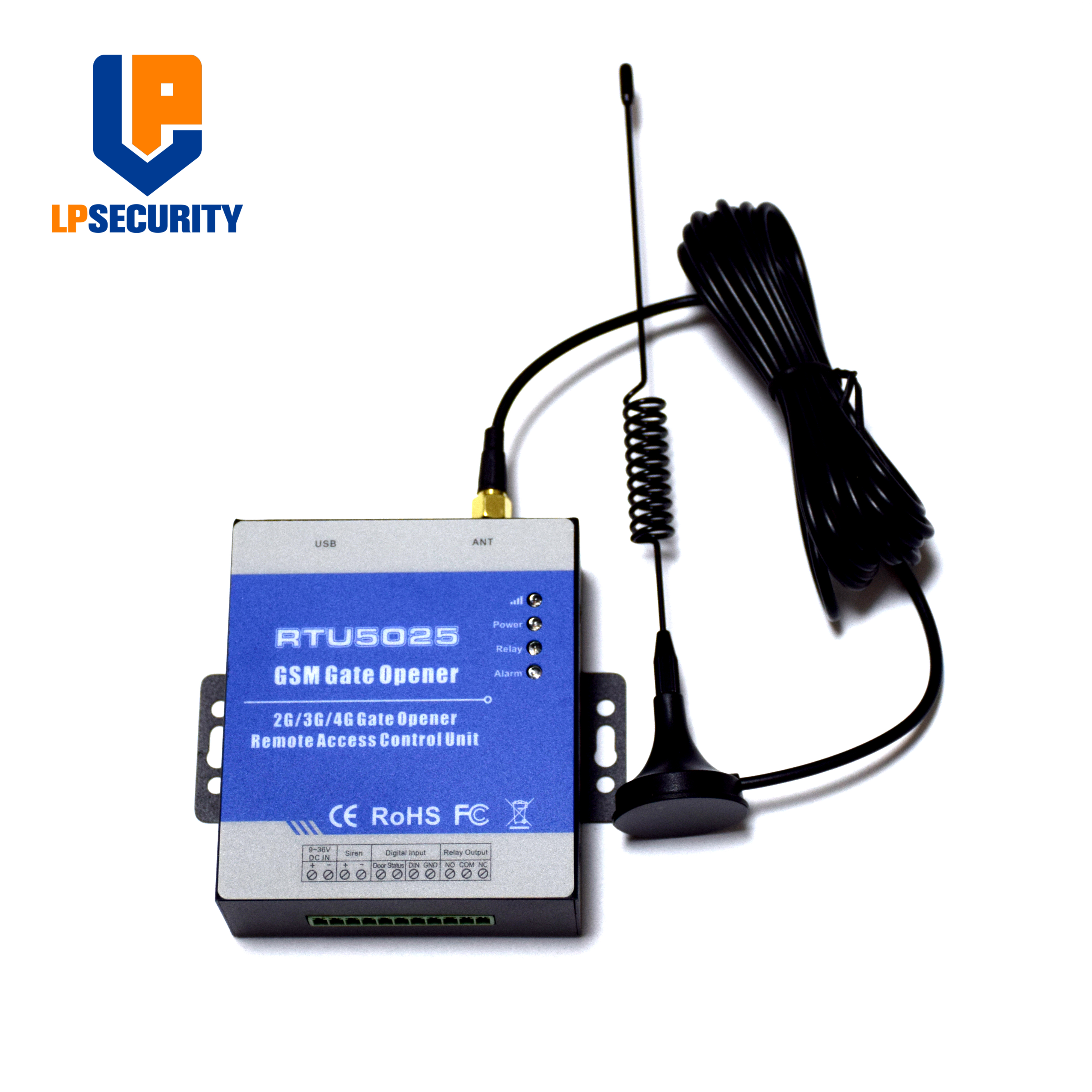 999 Users RTU5025 GSM Remote Control Gate Opener,Door Opener, Gsm Remote Control 2 Digital Inputs  Siren Output NO NC Outputs