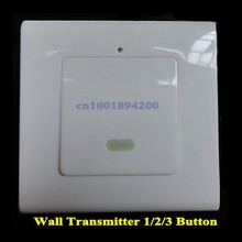 86 Wall Transmitter Panel Remote Control Transmitter Free Stick anywhere 1/2/3 Button EV1527 Learning Code Transmitter 315MHZ