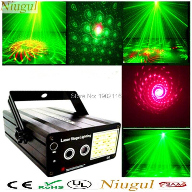 Niugull Mini RG Projecteur Laser Plus Blanc Couleur LED Stroboscope Lumière Disco D'étape DJ KTV Famille Fête Spectacle de Lumière RG Laser Mélange Stroboscope