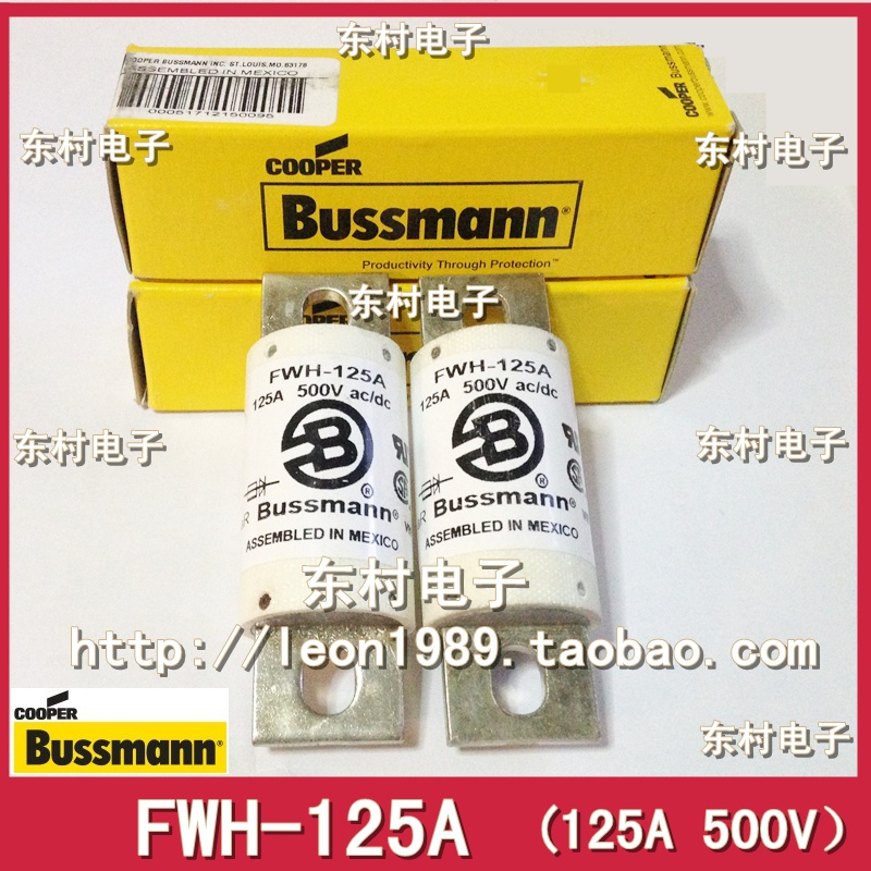 Imported original American BUSSMANN fuse FWH-125A 125A 500V ac / dc Fuses free shipping 1pcs lot din43620 imported fuse tube nh000 500v fuse body 100a 120ka eti