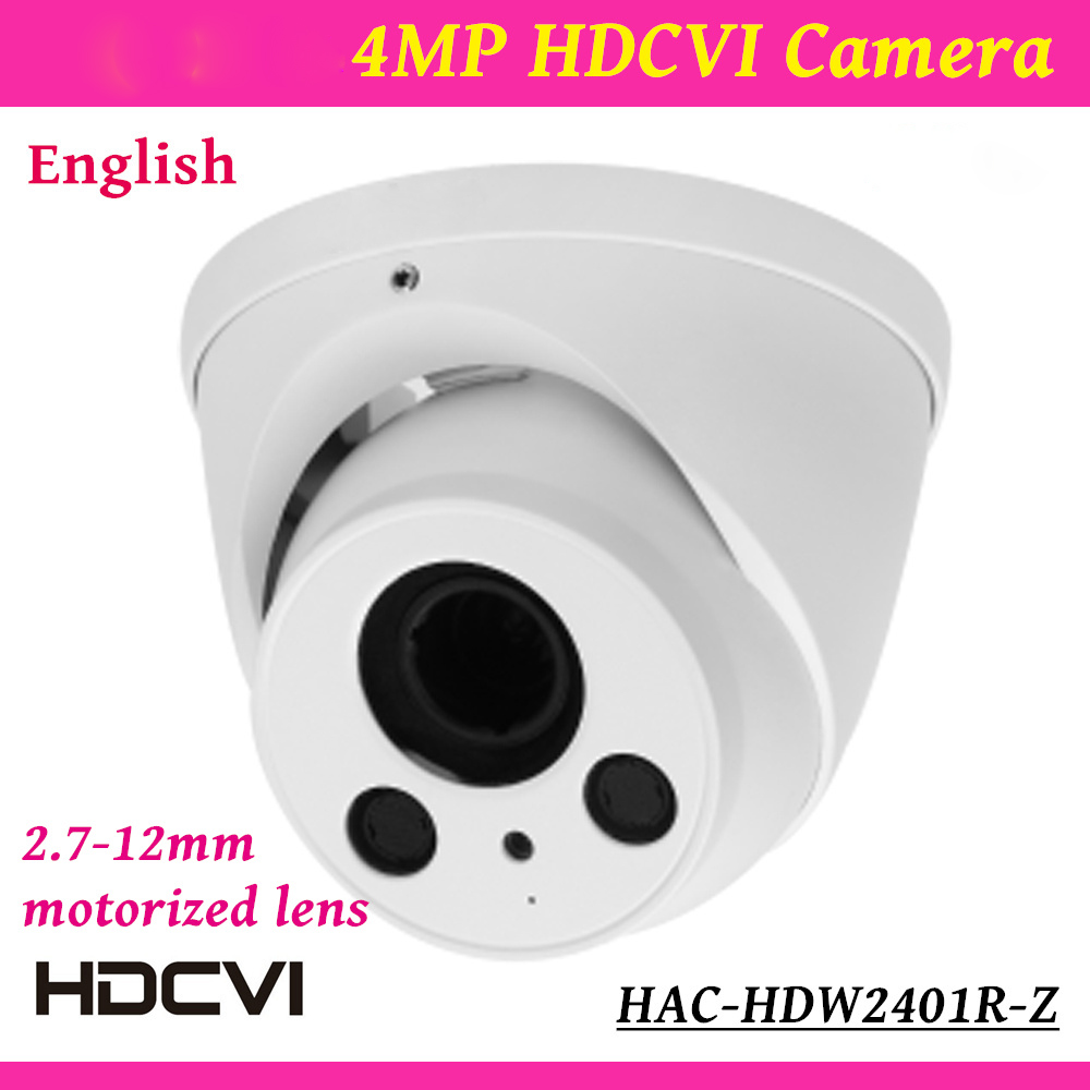 все цены на DH Outdoor/Indoor HDCVI Camera HAC-HDW2401R-Z 4mp HD Network security cctv Dome Camera IR distance 60m 2.7-12mm motorized len онлайн