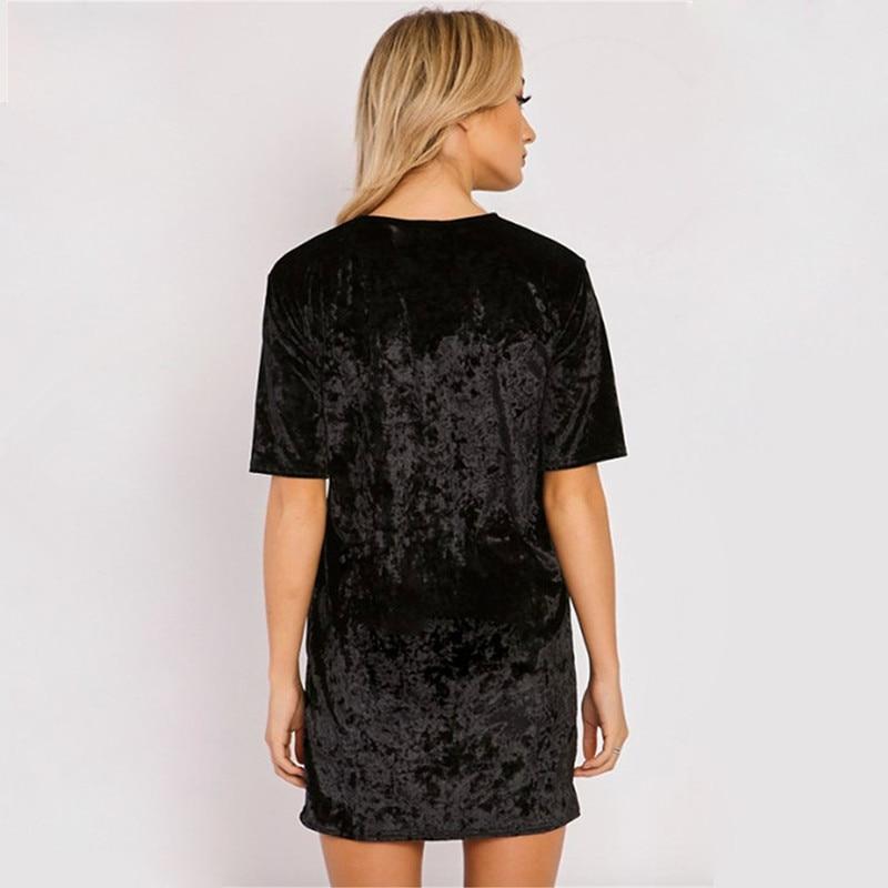 Spring Summer velvet dress women short-sleeved HTB1Fa blhrI8KJjy0Fpq6z5hVXat