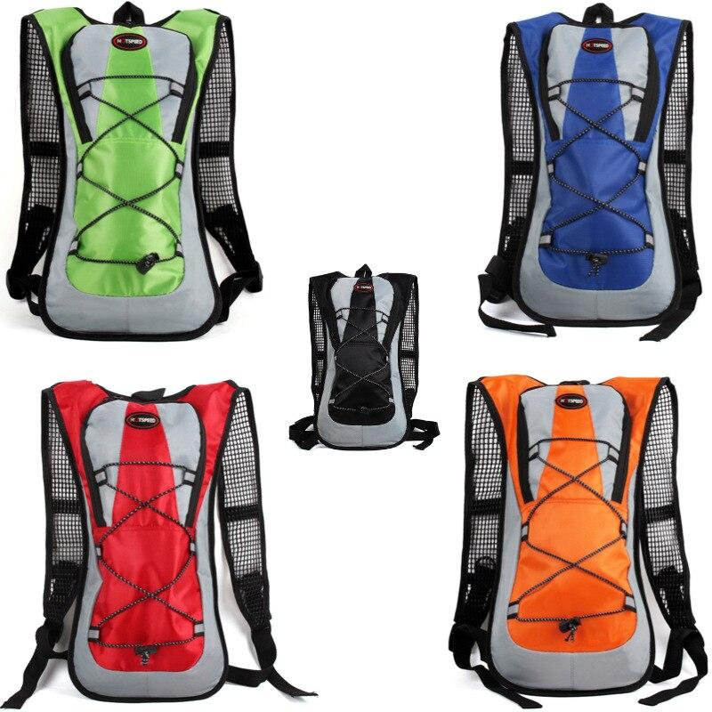 KEENICI 2L Mens Bicycle Road Backpack Casual Waterproof Nylon Patchwork Hit Color Rucksack Travel Packs Bolsa Mochila