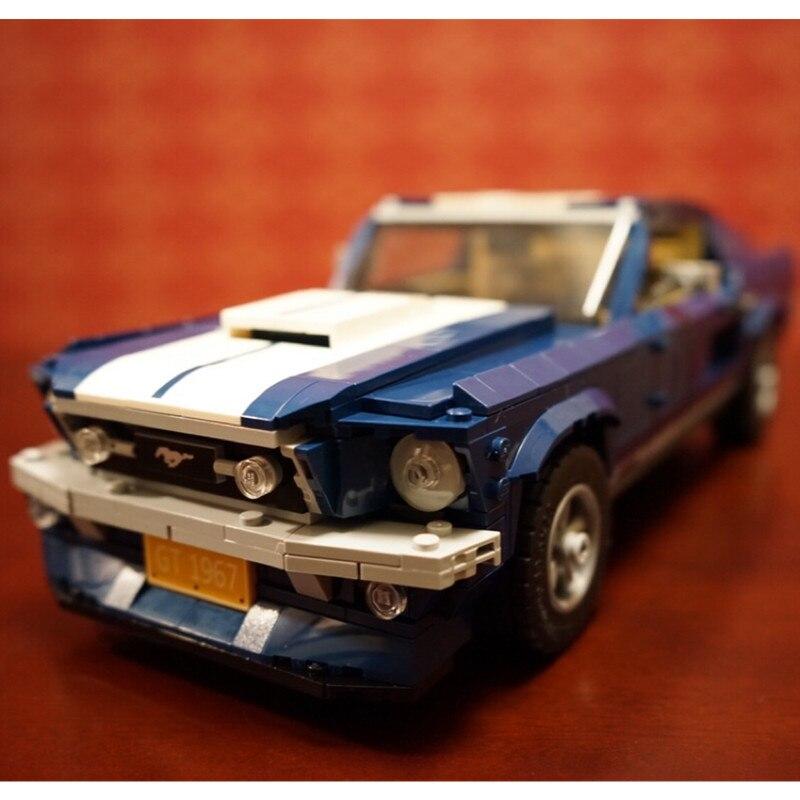 Créateur 1960 s Ford Mustang blocs de construction Kit briques ensemble classique ville modèle jouets pour enfants cadeau Compatible Legoings