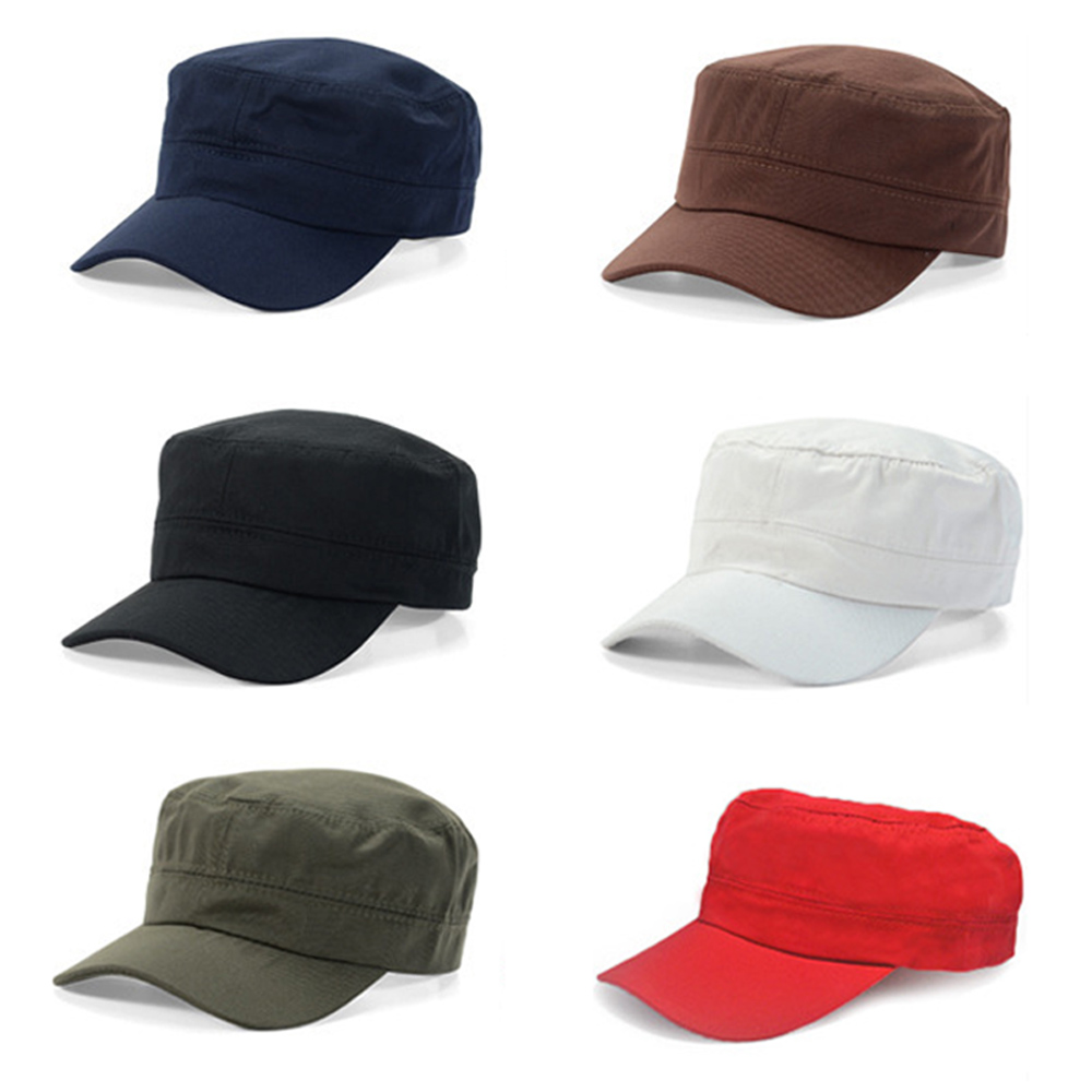 9d3bdc9b0bb03a Classic Men Cotton Army Plain Hat Cadet Combat Military Cap Baseball Hats  HATBD0004