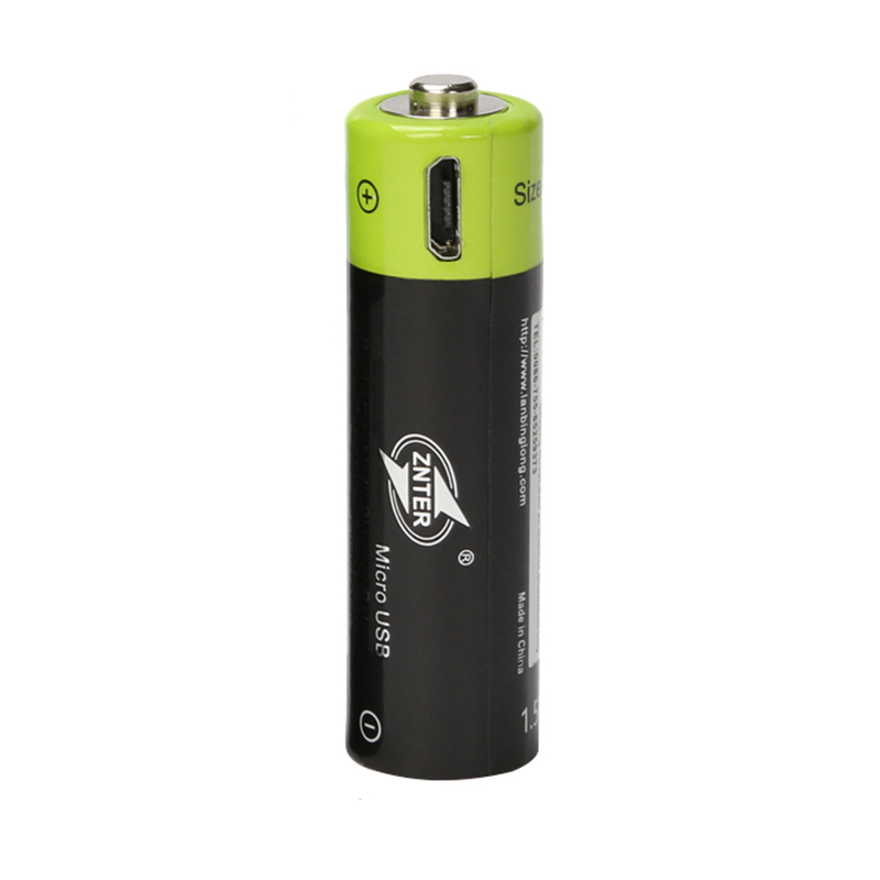 ZNTER Original 1Pcs/Lot Rechargeable Battery 1.5V1250MAH AA Batteries Lithium Batterij Micro USB Charging ZNT5-1-BR Powerbank