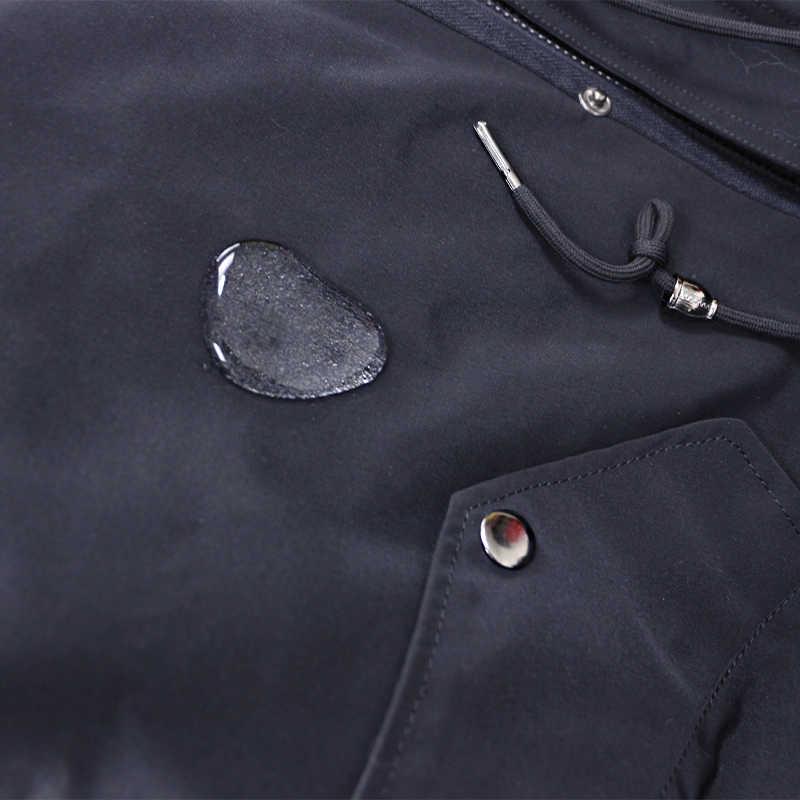 Kış Ceket Kadınlar Marka Su Geçirmez Parka Uzun Parkas Gerçek Tilki Kürk Hoodie Doğal Tilki Kürk Astar Ayrılabilir Ceket Streetwear Yeni