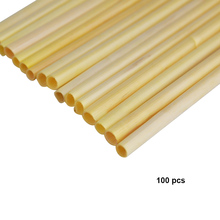 100Pcs/Pack Biodegradable Wheat Organic Disposable Birthday Kitchen Supplies Drinking Straw Non Toxic Eco Friendly Bar Milk Tea
