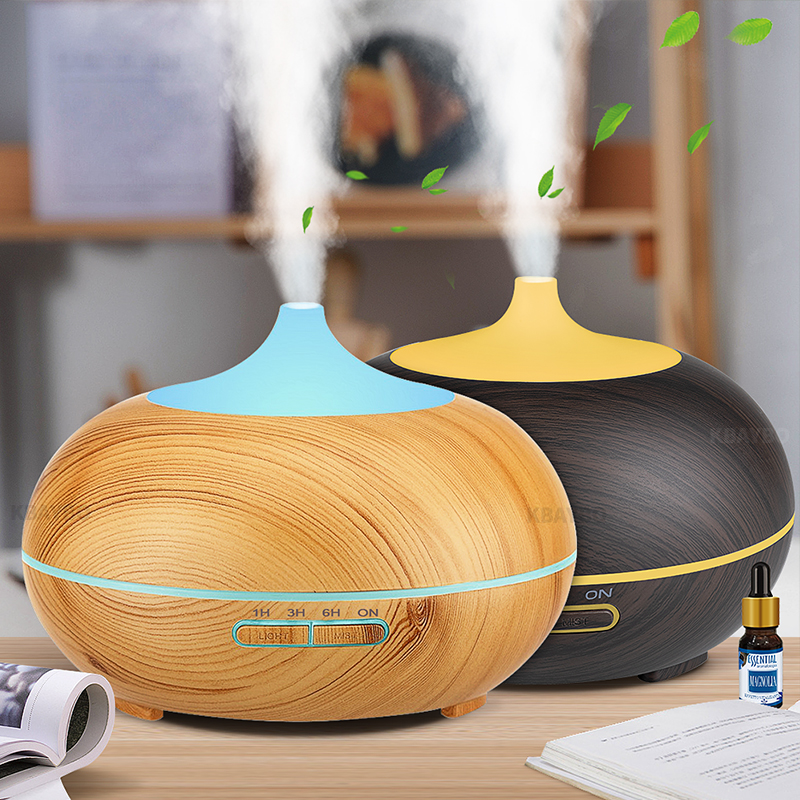 300ml Aroma Diffuser Aromaterapi Træ Grain Essential Olie Diffuser Ultralyd Cool Mist Luftfugtighed Til Office Home